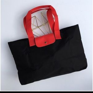 New black and red Lancome tote bag purse